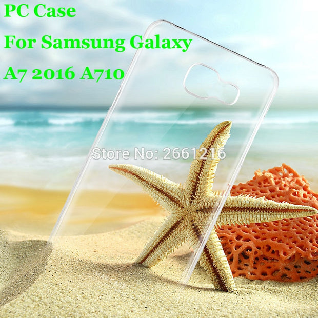 A7 A710 Hard PC Case Ultra Thin Clear Hard Plastic Cover Protective Skin For Samsung Galaxy A7 (2016) A7100 A710 5.5 Inch