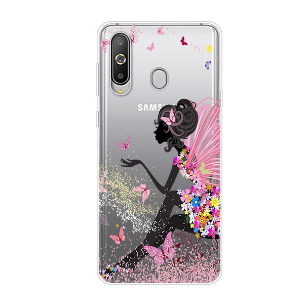 A8s Cover For Samsung A8s 6.4 Case TPU Soft Phone Case For Samsung Galaxy A8S A 8s A8 S Case Fashion Cute Cartoon Floral Paint