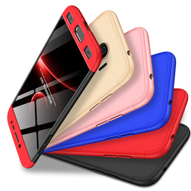 hot sale online 9ef48 4b969 AXBETY Cqoue Sfor Samsung Galaxy J2 PRO 2018 Case 360 Full Body Hard Hybrid  Plastic Protection Cover For Samsung J2 Pro 2018