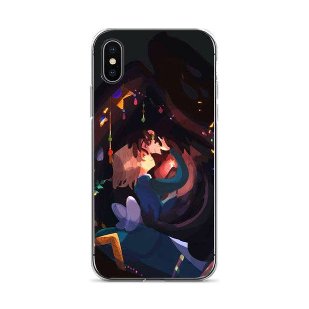 Aiboduo Howl's Moving Castle Soft Silicone Cover Case For IPhone X XS XR XSMax 6 6PLUS 8 8plus 7 7plus 6s 6sPlus