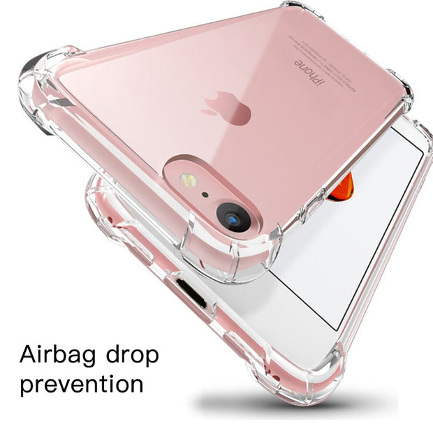 Anti-Knock Shockproof Case For IPhone XS Max 360 Body Protection Cover For IPhone XR XS X 8 7 6 6s Plus Soft TPU Cover Coque Bag