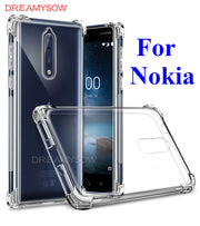 Anti-knock Cases For Nokia 9 6 5 3 Transparent Cover For Nokia 3 5 6 9 Coque Full Protection Of 360 Degree Drop Resistant Capa