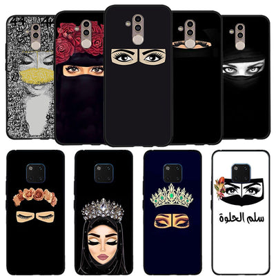 Arab Woman With Niqab Face Eye Phone Case For Mate 20 10 Lite Soft Silicone Black Cases For Huawei Mate 9 10 20 Pro Case Fundas