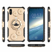 Armor Kickstand Case For IPhone X 8 7 6S 6 Plus 5S SE Hard Hybrid Plastic Shockproof Combo Features Gears Cover