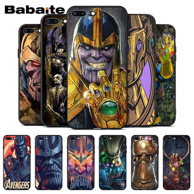 size 40 0ef21 748f4 Avengers Infinity War Thanos Phone Back TPU Cover Case For Apple IPhone 8 7  6 6S Plus X XS MAX 5 5S SE XR Mobile Cover