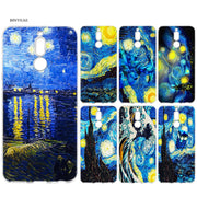 BINYEAE Van Gogh Sunflowers Painting The Starry Night Silicone Case For Huawei Mate 10 P20 P10 P9 P8 Y6 Y7 Honor 7C 7A 9 10 Lite
