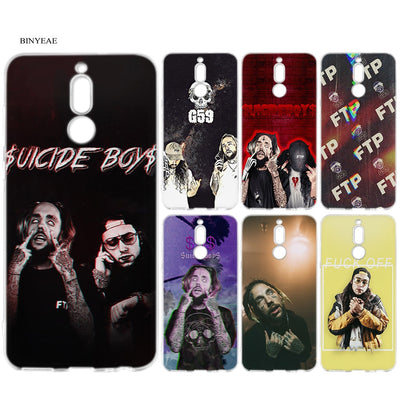 BINYEAE Uicideboy Suicideboys FTP Silicone Case For Huawei Mate 10 P20 P10 P9 P8 Y6 Y7 Honor 7C 7A 9 10 Lite Pro 2018 Mini 2017