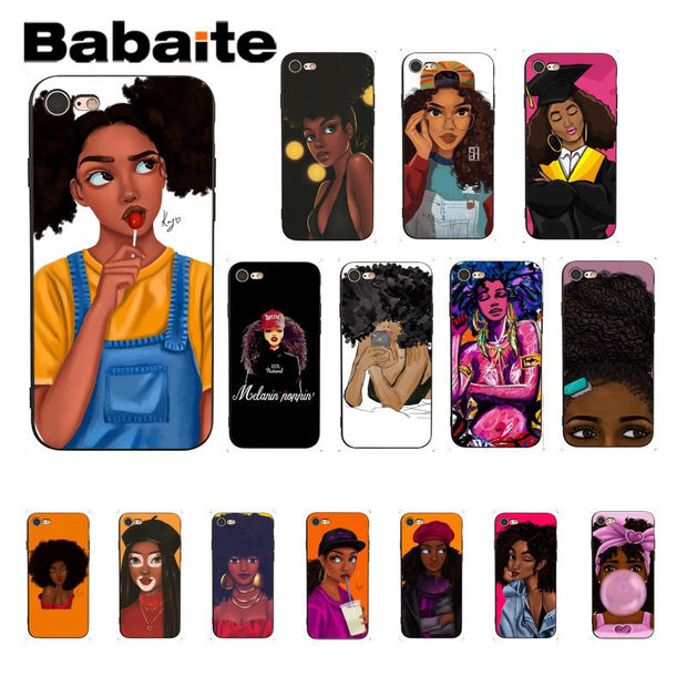 Cellphones & Telecommunications Babaite Afro Girls Novelty Fundas Phone Case Cover For Apple Iphone 8 7 6 6s Plus X Xs Max 5 5s Se Xr Cellphones Buy One Get One Free
