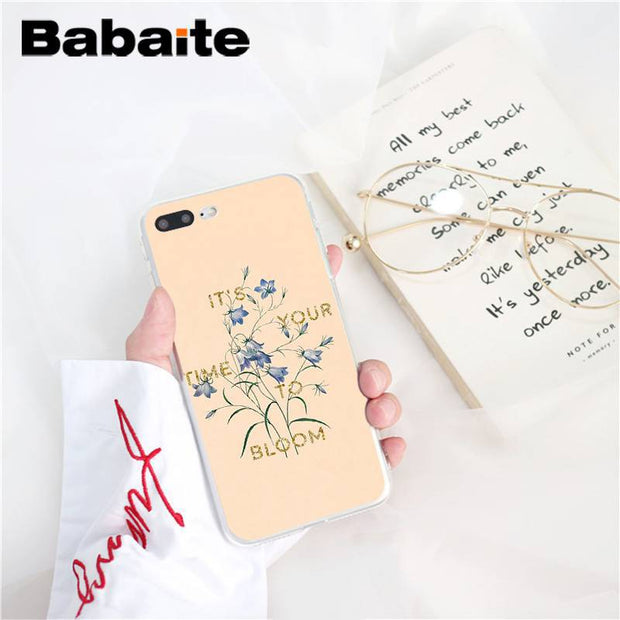 Babaite Art Flowers Newest Print TPU Soft Silicone Phone Case For IPhone 6S 6plus 7 7plus 8 8Plus X Xs MAX 5 5S XR 10