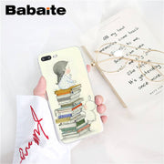 Babaite Art A Girl And Her Rabbit For Day Dreamers Soft Phone Case For IPhone 8 7 6 6S Plus X XS MAX 5 5S SE XR 10 Fundas Capa
