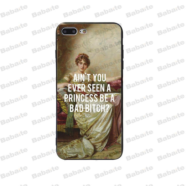 Babaite Artistic Oil Painting English Short Sentence Design Phone Case Cover For IPhone 5 5Sx 6 7 7plus 8 8Plus X XS MAX XR Case