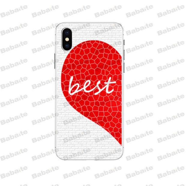 Babaite Best Friends Matching Floral Couple Newest Super Cute Phone Case For IPhone 5 5S 6S 6plus 7 7plus 8 8Plus X Xs MAX XR