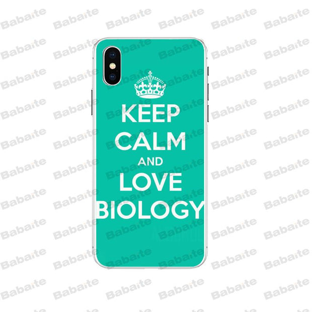 Babaite Biology And Chemistry Newest Super Cute Phone Cases For Apple IPhone 5 5S SE 6 6S 7 8 Plus X XS MAX XR Cover Case