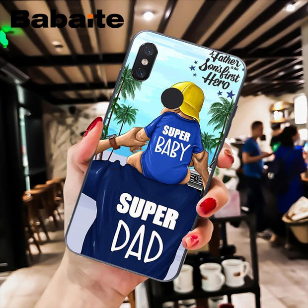 Babaite Black Brown Hair Baby Mom Girl Queen Phone Case Cover For Xiaomi Mi 6 Mix2 Mix2S Note3 8 8SE Redmi 5 5Plus Note4 4X 5
