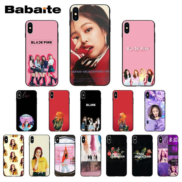 Babaite Blackpink Diy Luxury High End Protector Case For Iphone X Xs Xr Xsmax 6 6s 7 7plus 8 8plus Xs 5 5s Se 5c