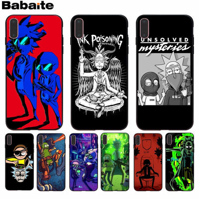 Babaite Cartoon Comic Meme Rick And Morty Soft Phone Accessories Cover For Apple IPhone 8 7 6 6S Plus X XS Max 5 5S SE XR Cover