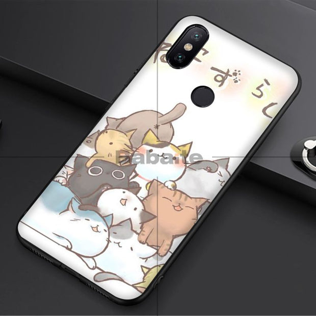 Babaite Cat Pattern Skin Newly Arrived Black Cell Phone Case For Redmi 5 Plus Note 5 Note 4 4X Xuiao Mi Note 3 8 8 SE 6