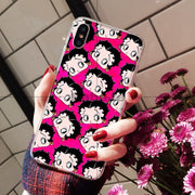 Babaite Cubierta Betty Boop Newly Arrived Transparent Cell Phone Case For IPhone 6S 6plus 7 7plus 8 8Plus X Xs MAX 5 5S XR