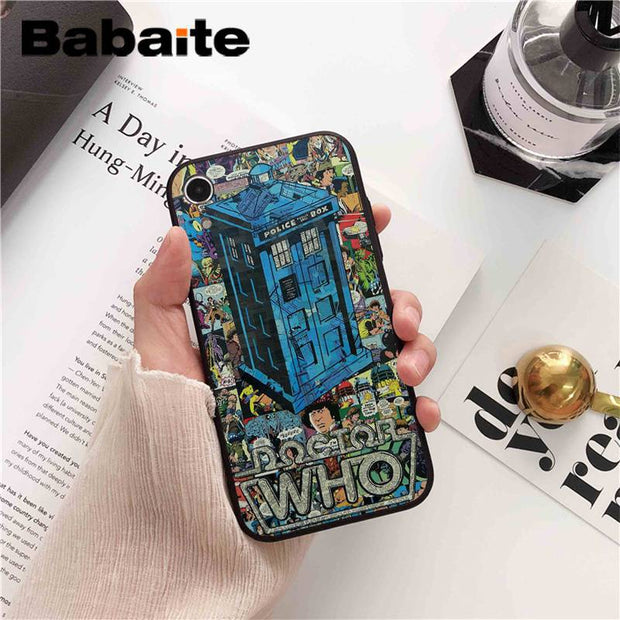 Phone Bags & Cases Half-wrapped Case Babaite Doctor Who Police Box Tardis Tpu Soft Silicone Phone Case Cover For Iphone 7 8 X Xs Max 6 6s 7plus 8plus 5 5s Se Xr