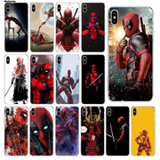Babaite Hero Deadpool Luxury Soft Rubber Transparent Phone Case For Apple IPhone 5 5S 6 6S 7 8 Plus X XS MAX SE XR Mobile Cover