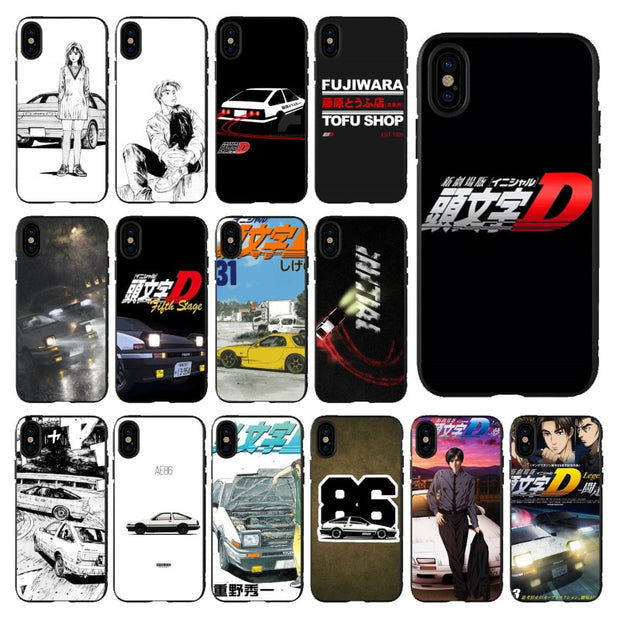 timeless design 2a390 4d130 Babaite INITIAL D Lovely Design Phone Accessories Case For Apple IPhone 5  5S 6 6S 7 8 Plus X XS MAX SE XR Mobile Cover