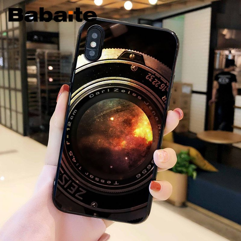 Space In Vintage Camera Lens iphone case