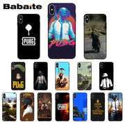 Babaite PUBG Coque Shell Phone Case For IPhone X XS XR XSMax 6 6S 7 7plus 8 8Plus Xs 5 5s SE 5c