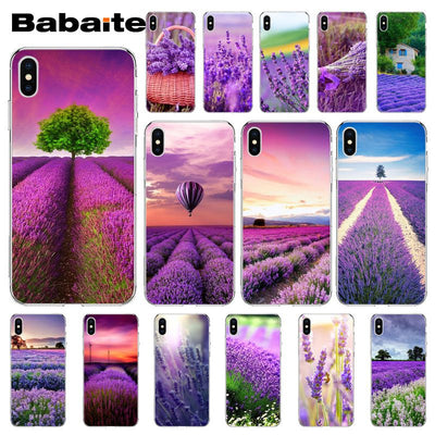 Babaite Tides Lavender Fields Purple Flower Phone Accessories Case For Apple IPhone 8 7 6 6S Plus X XS MAX 5 5S SE XR Cellphones