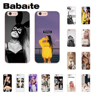 Babaite Ariana Grande Newly Arrived Phone Accessories Case For IPhone 8 7 6 6S Plus 5 5S SE XR X XS MAX 10 Coque Shell