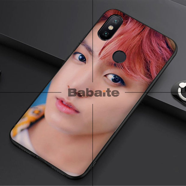 Babaite Bts Beautiful Boy Black TPU Soft Silicone Phone Cover For Xiaomi MI MIX 2 2S 6 8 8SE Note 3 Redmi 5 Plus For Capa