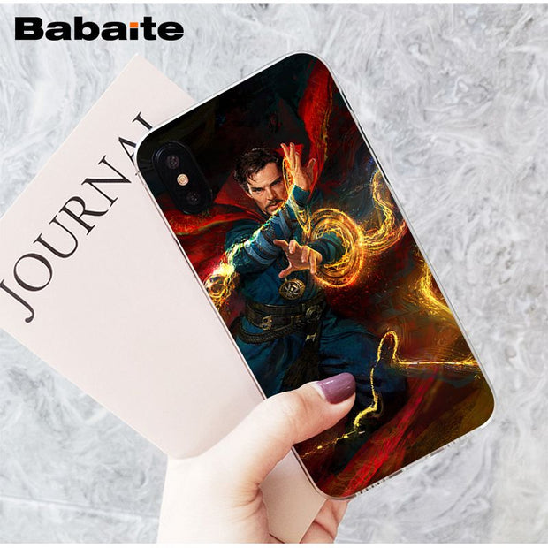 Half-wrapped Case Marvel Superheroes Doctor Strange Stephen Strange Logo Tpu Soft Phone Case For Iphone 8 7 6 6s Plus X 5 5s Se Xs Xr Max 6plus