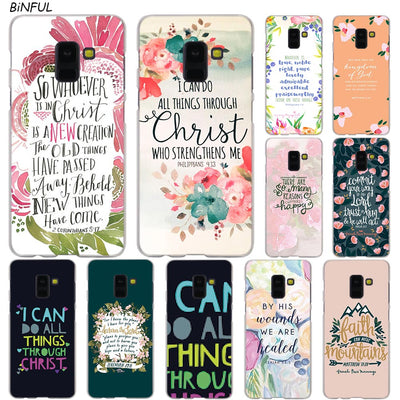 Bible Verse Philippians Jesus Christ Christian Case For Samsung Galaxy A3 A5 A9 A7 A6 A8 Plus 2018 2017 2016 Star A6S Note 9 8