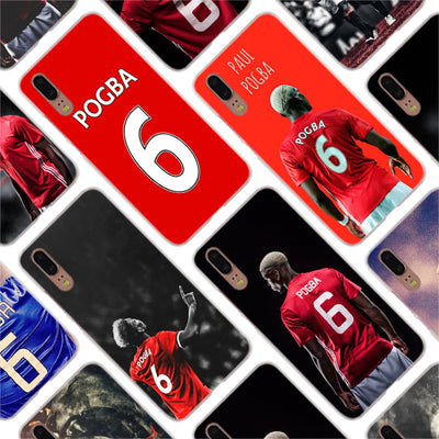 Binful Football Paul Pogba Fashion Clear Cover Case For Huawei P30 P20 Mate20 Pro P8 P9 P10 Mate10 Lite Mini 2017 Plus P Smart