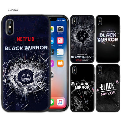 Black Mirror Season Tv Show Black Scrub Silicone Phone Soft Case Cover For IPhone XS Max X XR 6 6s 7 8 Plus 5 SE 5S