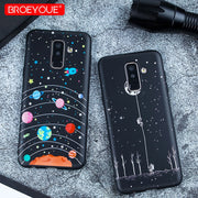 Black Relief Case For Samsung Galaxy S8 S9 Plus S7 Edge Case For Samsung J7 J5 A7 A5 2017 A8 A6 Plus 2018 Note 9 Matte TPU Cover