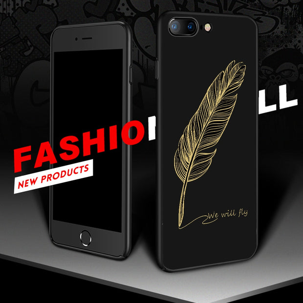 Black White Heart Stripes Silicon Matte Pattern Case For IPhone 7 8 X 6 6S Plus 5 5S SE Soft TPU Back Cover Conque Printed Shell