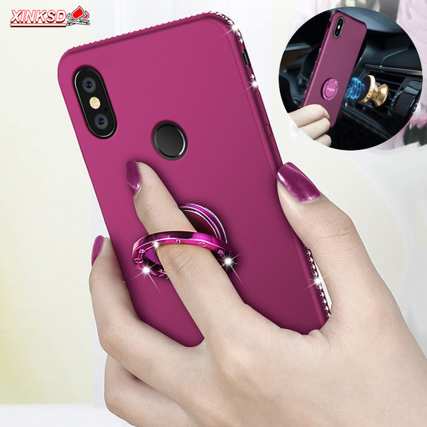 Bling Diamond Silicone Case For Xiaomi Mi 6X 6 Mi A2 Redmi 5 Plus 4 4A 5A Redmi Note 5 Pro 4 4X Soft Rhinestone Case Phone Cover