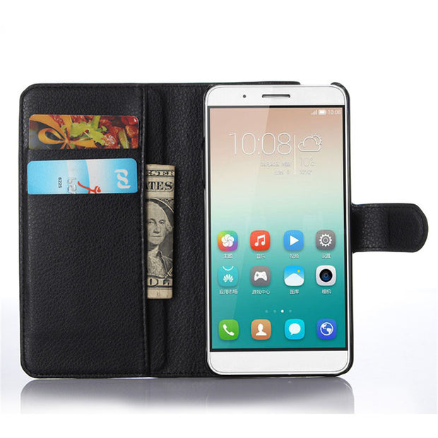 Book Style PU Leather Case Cover For Huawei Honor 7i Flip Wallet Phone Bags Cases With Stand For Huawei Honor 7i