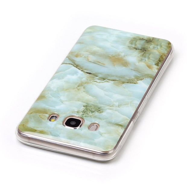 CHOEOIWE Cases For Samsung Galaxy J500F J5 2015 J510F 2016 2017 EU US Version Case Granite Marble Pattern Soft TPU Phone Cover
