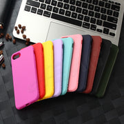Candy Color TPU Rubber Silicone Case For IPhone 7 7Plus Case ABAG For IPhone 8 6S Plus Matte Frosted Soft Cover Protection Case