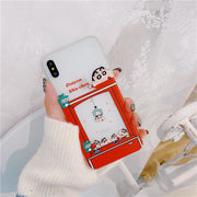 Cartoon Clip Doll Machine Phone Case For IPhone XR XS MAX Case For Iphone X 6S 7 8 Plus Ultra Thin Soft TPU Cover Couples Cases