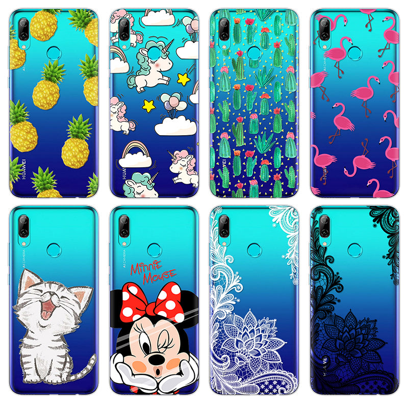 sneakers for cheap f796a 4f748 Cartoon Minnie Cat Phone Case FOR Huawei P Smart 2019 Case Soft TPU FOR  Huawei PSmart 2019 Case Protective Coque Cover Luxury