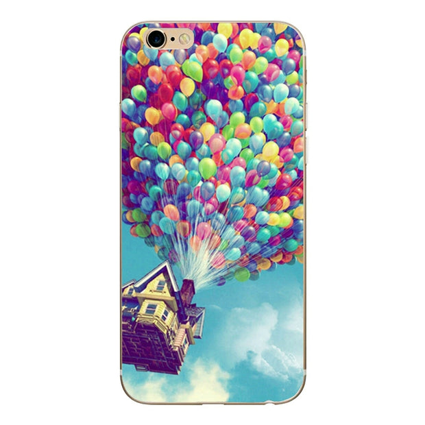 Cartoon Soft Silicone Flower Phone Case For Iphone 7 7plus 8 8plus Case For Iphone 5 5s SE 6 6S Plus Ultra-thin TPU Phone Cases