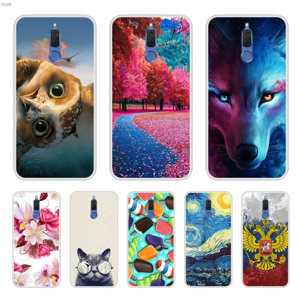 Case Cover For Huawei Nova 2i Soft Silicone TPU Cool Patterned Painting For Huawei Nova2i Phone Cases