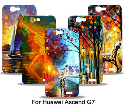 Case For Huawei Ascend G7 C199 Vintage Art Phone Case Floral Plant Vincent Van Gogh Sailing Lighthouse Oil Painting Cases Capa