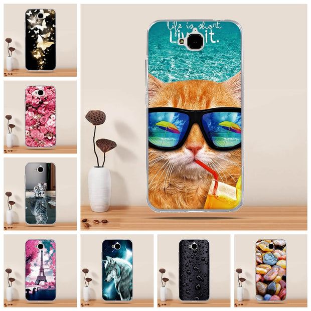 Case For Huawei Honor 4C Pro Case Cover Silicone Cover For Huawei Y6 Pro Case Cover For Huawei Enjoy 5 Holly 2 Plus Funda Capa