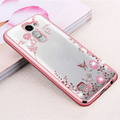 Case For LG G3 G4 G5 G6 K10 G 3 4 5 6 K 10 Dual Mobile Phone Cover Glitter TPU Silicon Casing Housing Beauty Rhinestone