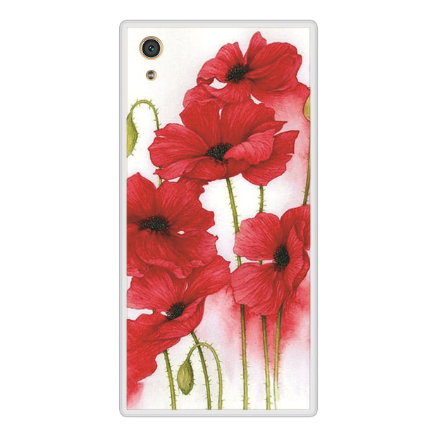 Case For SONY Xperia XA1 Soft Silicone TPU Floral Flower Patterned Paint Phone Cover Coque For SONY XA1 Cases