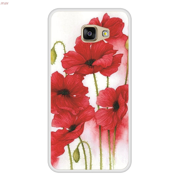 Case For Samsung Galaxy A5 2016 Soft Silicone TPU Floral Flower Painting Phone Cover Coque For Samsung Galaxy A 5 2016 Case