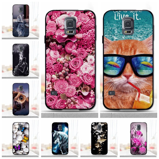 Case For Samsung Galaxy S5 Case Cover For Samsung S5 Case Silicone Black Soft TPU Coque Funda For Samsung Galaxy S5 Phone Capas